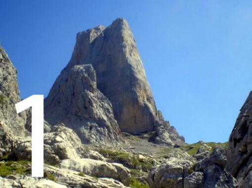 La vía 'Pidal-Cainejo' en la cara norte del Naranjo de Bulnes. Fue la primera escalada en Picos de Europa