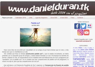 La web de piragüismo