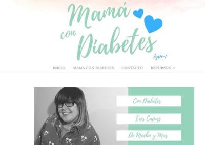 Mamá con diabetes