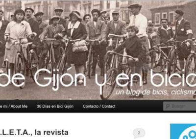 Desde Gijón y en Bicicleta