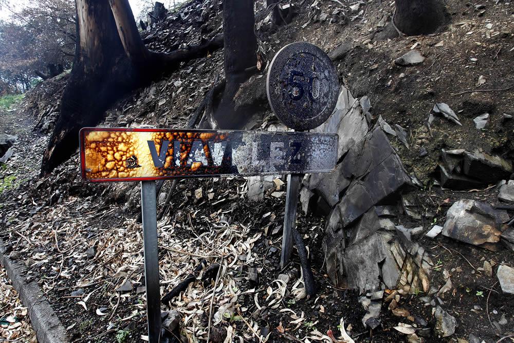 La N-634 cortada a la altura de Viavélez en el occidente asturiana